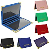 OURBAG Fashion Leather Travel Bus Pass Holder Oyster Wallet Rail Card Cover Case Colors Blue