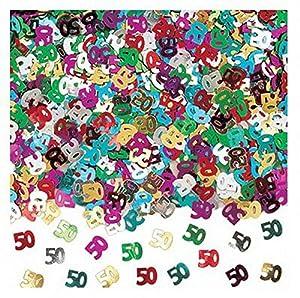 Gifts 4 All Occasions Limited SHATCHI-172 - Confeti para decoración de mesa (14 g, 50 años), diseño de confeti