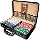ESPN 500 Piece Championship Edition Poker Chip Set with Genuine Leather Case