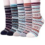 Senker Damen packung mit 5 s thick knit m beiläufige wolle mannschaft winter socken Mix Color 5 One Size