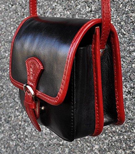 Damen Trachten Tasche Damentasche Dirndltasche T738 Schwarz Rot