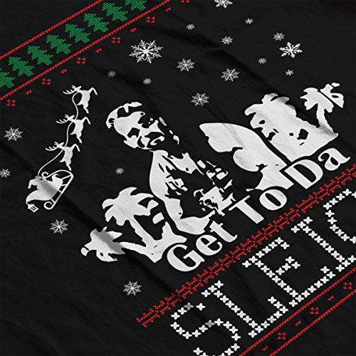 Predator Get To The Sleigh Christmas Knit Women's Vest Black