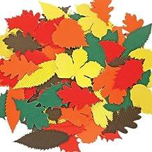 IC autumn-themed foglie in cartone ondulato, legno, multicolore, 6.8x 22.7x 32cm