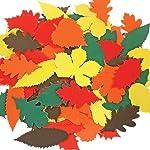 CI IC autumn-themed foglie in cartone ondulato, legno,, 6.8x 22.7x 32cm