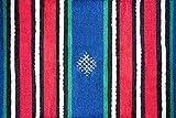 greenearthco alfombra, Bereber marroquí manta, tapiz de pared, 100% lana, tejido a mano en Marruecos, color rojo, azul y verde