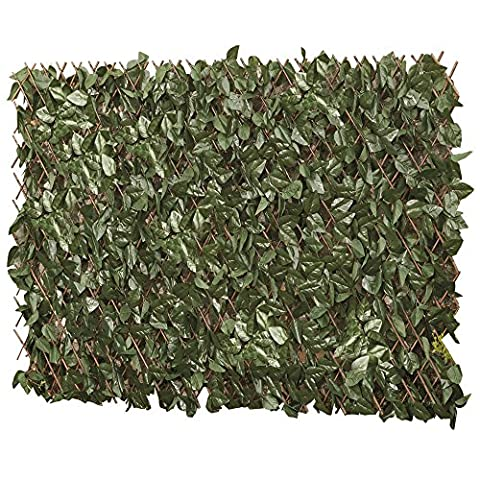 Artificial Leaf Hedge, Instant Privacy Screening Panel for Gardens, Balcony and Terraces (1 x 2m, Artificial Ivy Hedge Trellis)