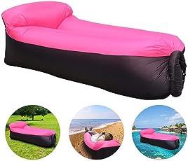 Aufblasbare sofa,Wasserdichtes Aufblasbares Air Lounger mit Tragebeutel,zum Schlafen im Freien,im Innenbereich,zum Zurücklehnen und Entspannen, Aufblasbarer Sitzsack für Reisen,Camping, Park,Strand
