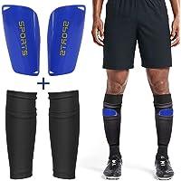 Dokpav Football Shin Guard Socks + Shin Pads Sleeves Double Layer Mesh Breathable for Football Games Beginner Elite…