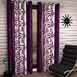 Galaxy Home Decor Modern Eyelet Polyester Curtains for Door 7 Feet, Pack of
