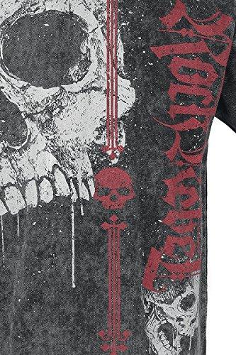Rock Rebel by EMP Darkness is Always Waiting T-Shirt Dunkelgrau Dunkelgrau