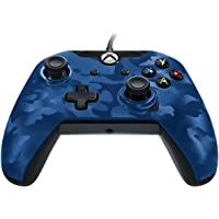 PDP Stealth Series Wired Controller for Xbox One, Xbox One X and Xbox One S (Blue Camouflage)