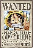 """Póster One Piece """"Wanted Dead or Alive Monkey D. Luffy"""" (68cm x 98cm) + 1 póster sorpresa de regalo"""