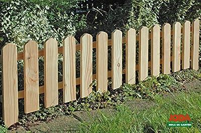 4x Steckzaun 120 x 30 cm Gartenzaun Holz Zaun Beetbegrenzung Lattenzaun von dynamic24 - Du und dein Garten