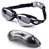 Xiaoai Swim Goggles, No Leaking Anti Fog Waterproof Indoor Outdoor Swimming Goggles with UV Protection for Adult Men Women Yo