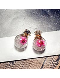 12 Stück Klarglas Ohrringe Pin Post Ohr Stud Ohrstecker Pins