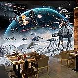 Personnalisé 3D Photo Papier Peint de Bande Dessinée Star Wars Enfants Chambre Chambre Peinture Murale Salon Mur Papier Peint Pour Enfants Chambre 400X280Cm
