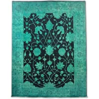 Tradizionale fatto a mano Chobi William Morris tappeto persiano, lana, nero, 265x 351cm, 8'20,3cm x 11' 15,2cm ( ft)