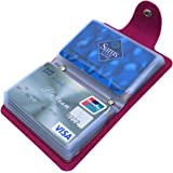 Mocasor Credit Card Holders for Women Men Bank Card Case (Rose Red)