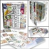 SAFE 7921 SAMMELALBUM BANKNOTENALBUM DIN A4 + 20 x Compact DIN A4 HÜLLEN Nr. 5483 - Für bis zu 120 Banknoten - Geldscheine - Papiergeld
