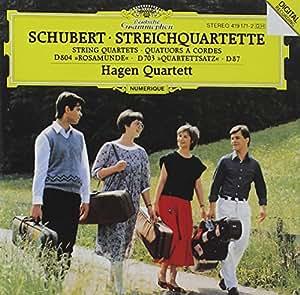 Schubert: Streichquartette D804, D87, D703