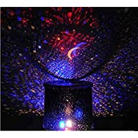 Goank Star Master Colorful Romantic LED Cosmos Sky Starry Moon Beauty Night Projector Bedside Lamp with USB Cable (Black)