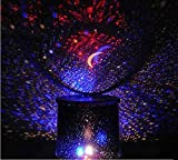 Goank Star Master Colorful Romantic LED Cosmos Sky Starry Moon Beauty Night Projector Bed Side Lamp with USB Cable (Black)
