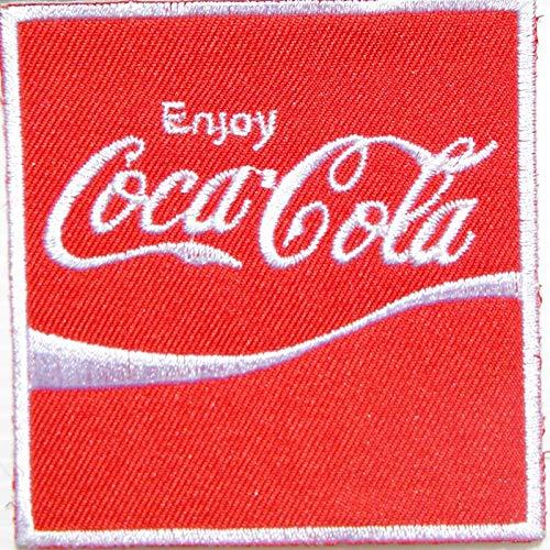 Coca Cola Kostüm Zubehör - LipaLipaNa Genießen Sie Coca Cola Coke Softdrink Logo Jacke T-Shirt Patch Nähen Eisen auf gesticktem Zeichen Abzeichen Kostüm Kleidung Applique Souvenir Zubehör