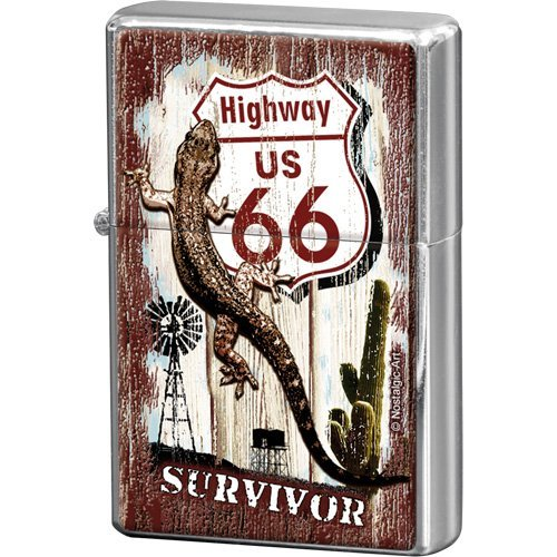 Nostalgic-Art 80236 US Highways - Highway 66 Desert Survivor, Feuerzeug