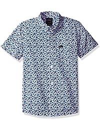 RVCA Big Boys' Porcelain Short Sleeve Shirt