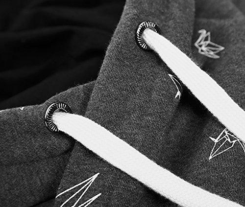 EA Selection Damen Sweaters Hoodie Kapuzenpllover Coolen Stehkragen Grau-Origami
