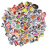 Sticker Pack [100pcs],Sanmatic Sticker Decals Vinyls for Laptop,Cars,Motorcycle,Bicycle,Skateboard Luggage,Bumper Stickers Hippie Decals bomb Waterproof (A)