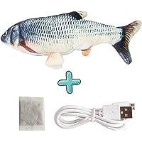 ZHENGJIU ANTKING Simulations Fisch Elektrisch, Elektrische Plüsch Fisch mit Katzenminze, USB Aufladbar Springendes…