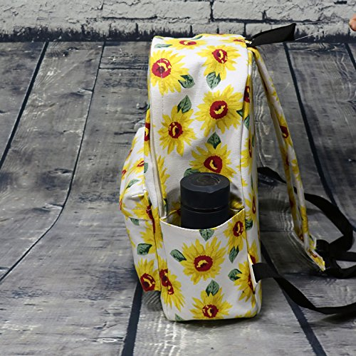 Koreanische gedruckt Frauen Taschen casual Canvas Tasche einfache Campus britische Umhängetaschen große Kapazität travel Rucksack, Hellgrün White