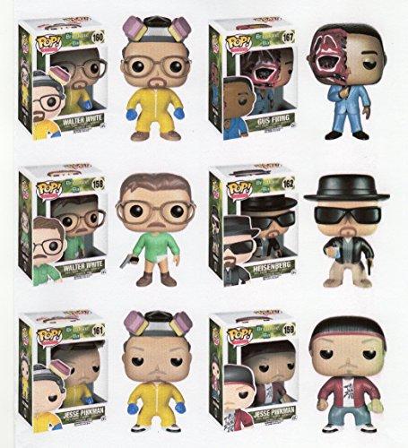 Funko Breaking Bad 3.75'Pop Figura Set con Regular y cocinar Walter White y Jesse Pinkman–Heisenberg–Gus Fring