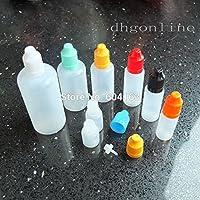 Desconocido Botellas vacías de 15 ml: 20 unidades de 3 – 100 ml para zumo de plástico líquido apretable a prueba de zumo