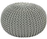 ANTARRIS Sitzhocker Sitzpuff Bodenkissen Ø 50 cm, 55 cm oder 80 cm ver. Farben Baumwolle (Ø 55 cm, Hellgrau (HG))