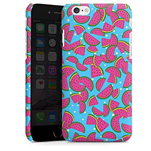 Apple iPhone 5s Housse Étui Protection Coque Pastèques Été Motif Cas Premium mat