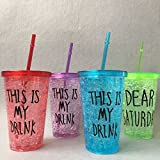 Shopee Gel Freezer Sipper Water Bottle with straw 500ml (Color May Vary)