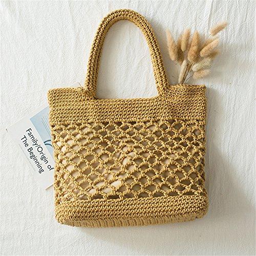 Pretty-jin Sommer Strandtasche aus Baumwolle Damen Fashion