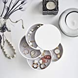 Desktop Runde Vier Schicht Schmuck Aufbewahrungsbox Schmuck Halskette Ohrring 360 Grad Frei Multifunktionale Sammlung Fall Ve