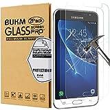 [2unidades] Galaxy J3(2016) Protector de pantalla, bukm Premium templado vidrio Protector de pantalla [9H Dureza] [antihuellas] [sin burbujas] Protector de pantalla para Samsung Galaxy J32016