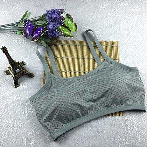 BZLine - Femme Soutien-gorge de Yoga - en Coton mélangé - Dos nu Gris