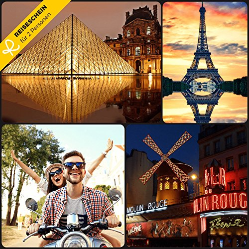 Reiseschein - 4 Tage Kurzurlaub in einem von 4 Hotels in Paris der Stadt der Liebe erleben - Gutschein Kurzreise Kurzurlaub Reise Geschenk (Hotels In Der Nähe 9)