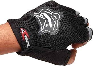 Adraxx Super Half Finger Cycling Gloves (Black, 4.0004101529e+012)