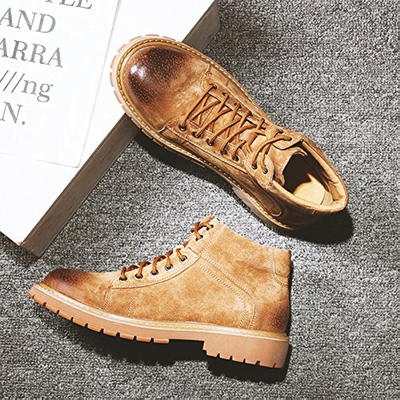 HL PYL   Martin Herren stiefel Hohe Schuhe Werkzeuge Stiefel mit niedrigen Baumwolle Schuhe  43  BraunHL PYL stiefel Werkzeuge niedrigen Baumwolle