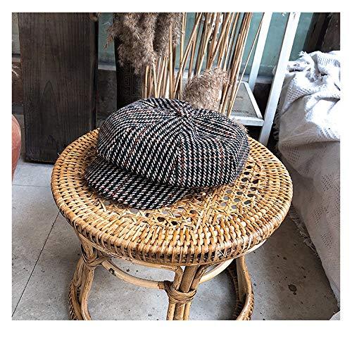 iche Herbst und Winter Koreanische Version des Casual Retro Casual Ente Zungenmaler Hut Wild Newsboy Hut Gitter Achteckige Kappe, bräunlich grün ()