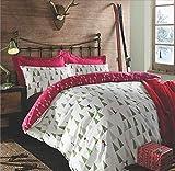 Dreamscene Bettbezug-Set Weihnachts-/Skimotiv in Rot, für Doppelbett
