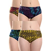 EVERRICH Women's Cotton Hipster Panty Briefs Combo Pack for Ladies