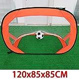 Bambini Porta di Calcio Pieghevole Football Goal Multifunzionale Portatile Semplice da Gol for Bambini Sport e Tempo Libero per i Bambini Piccolo Formazione (Colore : Orange, Size : One Size)