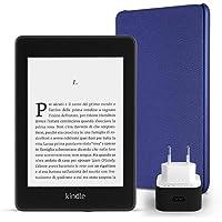 Kit essenziale Kindle Paperwhite, include un e-reader Kindle Paperwhite, 8 GB, Wi-Fi, con offerte speciali, una custodia…